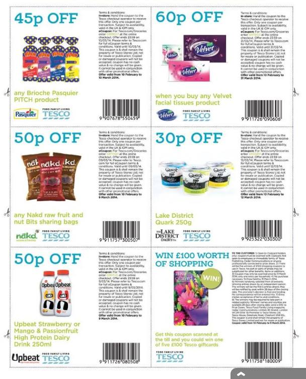 printable shopping coupons uk