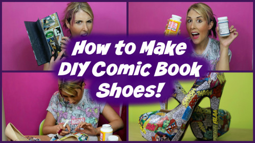 ***NEW VIDEO*** How To Make DIY Comic Book Shoes For Less Than £15!